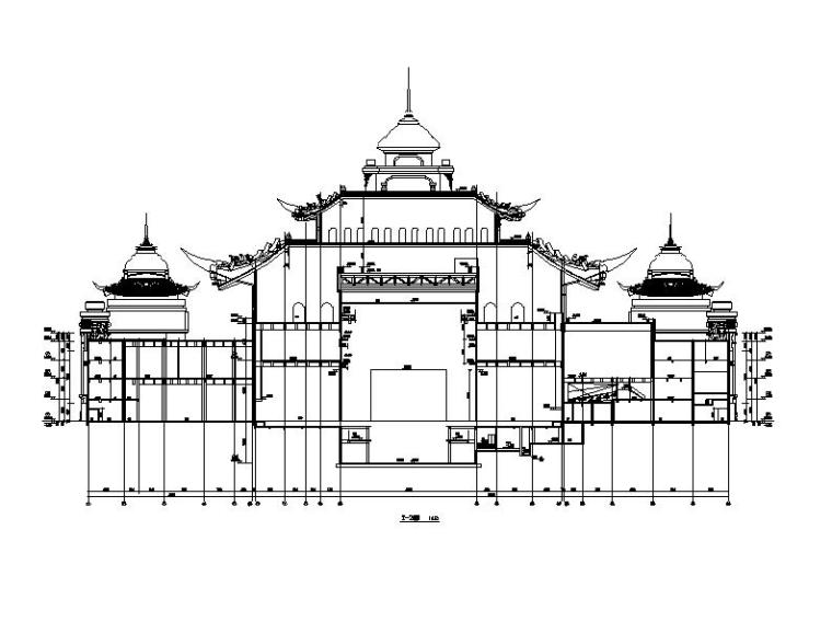 [内蒙古]四层新古典风格多功能文化中心建筑施工图(16年最新)_2