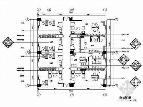 [南山]科技产业园教育信息大厦现代办公楼装修施工图