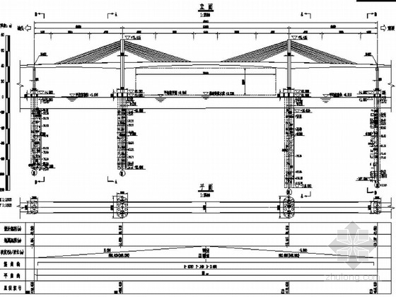 (126+238+126)m预应力混凝土矮塔斜拉桥施工图214张(塔梁固接体系)