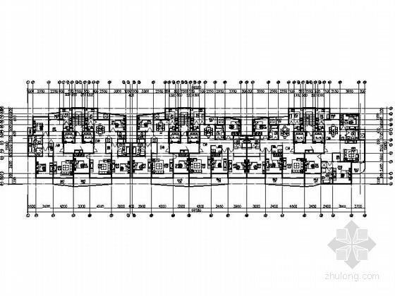 某小高层板式住宅户型图(120-170平方米)