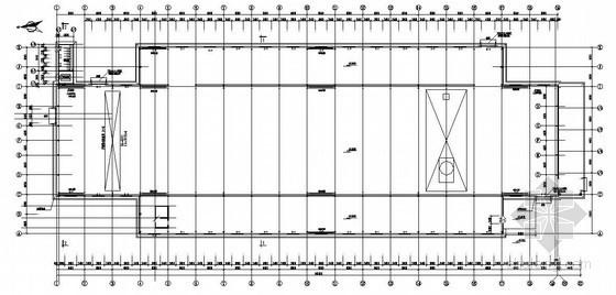 33米跨单层双跨门式刚架厂房结构设计图