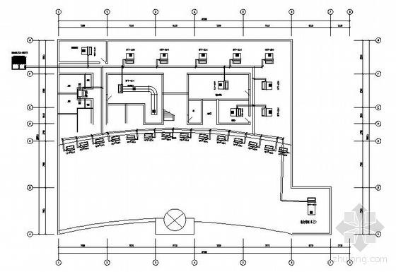 某品牌汽车重庆4S店空调平面图