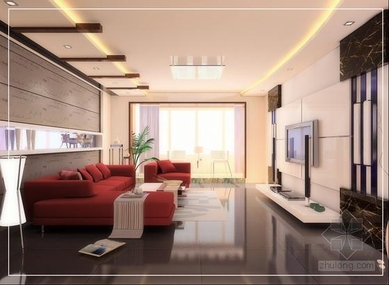 简约时尚现代风格两居室装修图(含效果图) 效果图