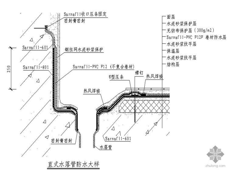 [图集]常用上人屋面建筑节点构造详图合集