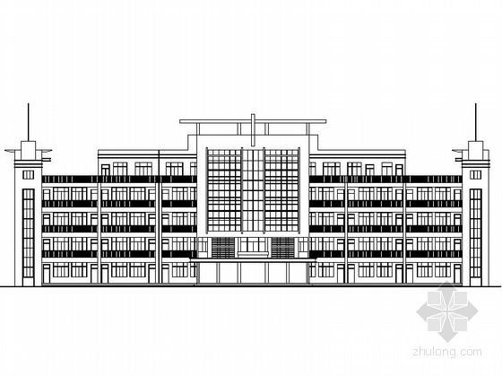 某学校五层外廊式教学楼建筑施工图