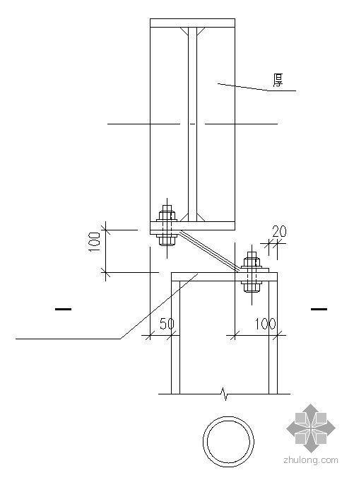 某梁柱弹簧板连接节点构造详图