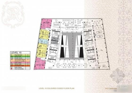 [天津]某五星级酒店客房设计方案图
