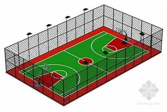 蓝球场设计及施工工艺