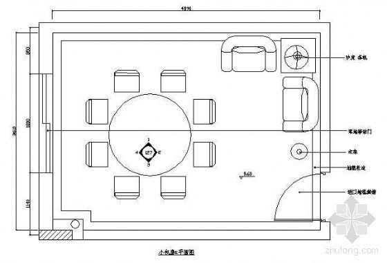 餐厅包房平面布置图