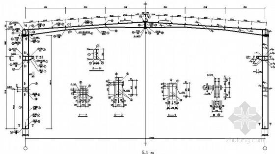 27米跨门式刚架厂房结构施工图