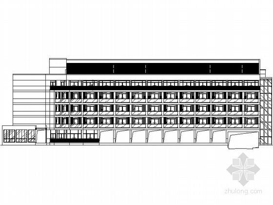 [武当山]玄武湖某国际大酒店六层酒店客房建筑施工图(4#楼)