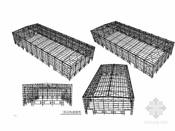 20米及30米跨门式刚架结构粮食加工厂方案图