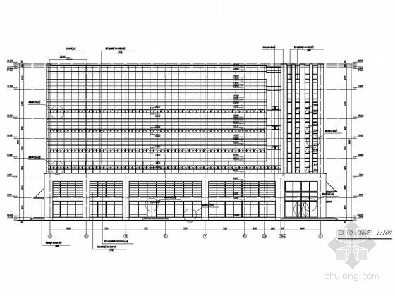 4000平六层框架结构综合楼结构施工图(含建筑图)