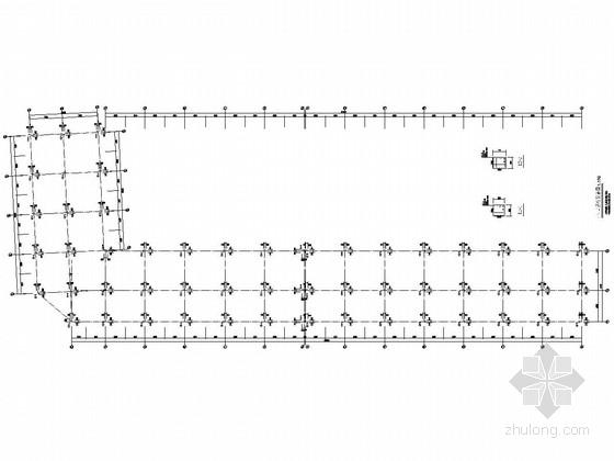 两层框架商铺梁板柱结构施工图