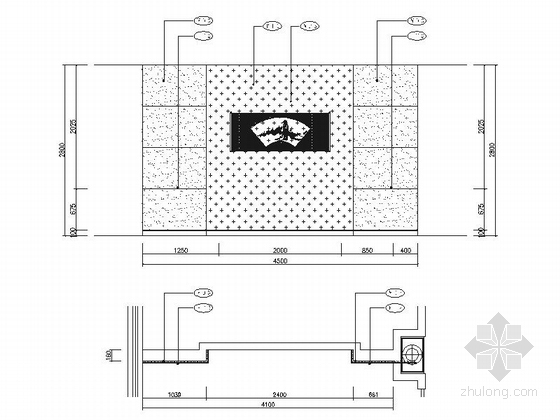 [成都]地级市典雅中式风格酒店室内装修施工图dwg.zip连雅立面图