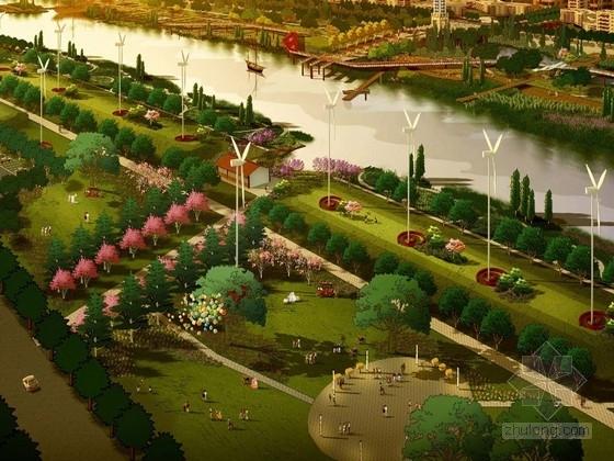 [江苏]生态游憩型滨河景观带规划设计方案