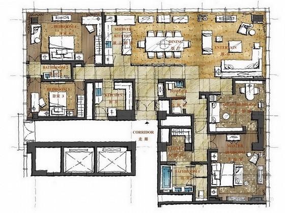 [南京]豪华顶级酒店式公寓设计方案图