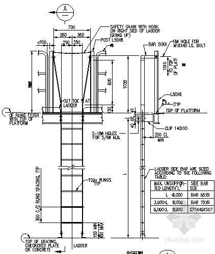 钢爬梯节点构造详图