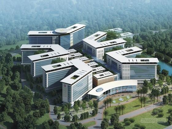 [湖北]现代风格高层医院规划及建筑单体设计方案文本