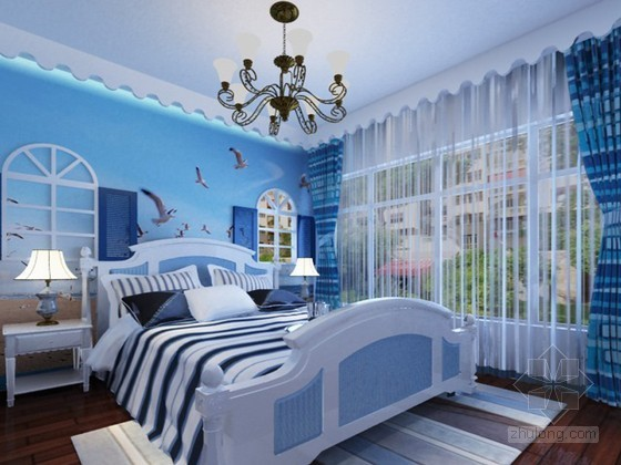 地中海卧室3D模型下载