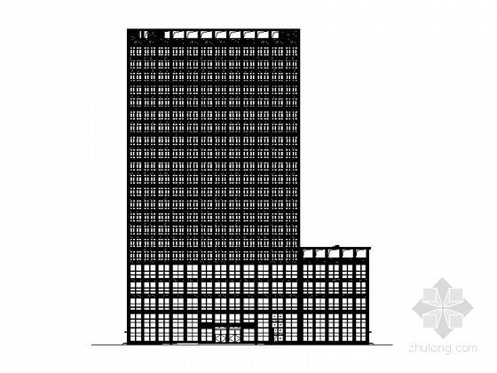 一类高层现代风格酒店设计施工图(含效果图)