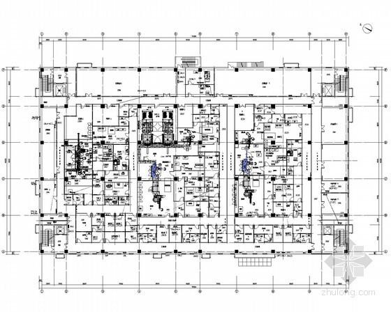 [江苏]框架结构办公楼强电系统施工图纸128张