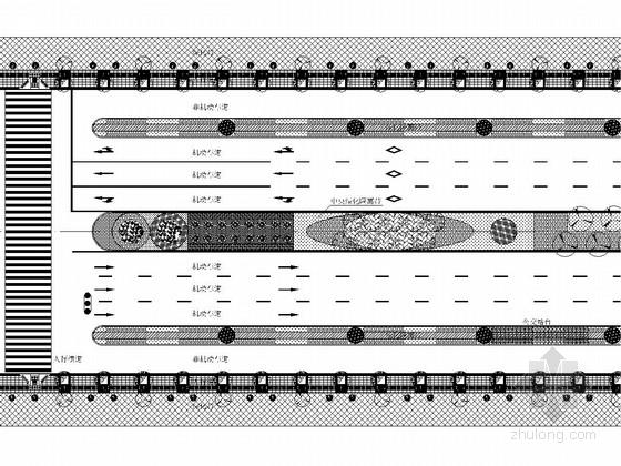 [四川]城市主干路道路重建工程全套施工图设计164张(道排 绿化 照明 管线)