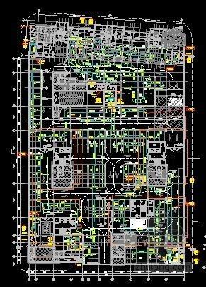 [上海]高层住宅小区空调通风及防排烟系统设计施工图(人防设计)