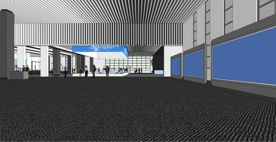[天津]科技产业技术研究中心现代展厅设计方案展板区效果图