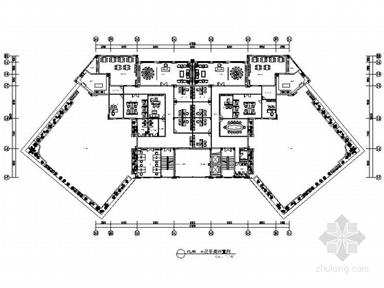 [北京]高新技术科技园金融中介机构现代办公楼装修施工图(含效果)