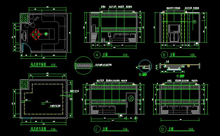 300多套CAD装修施工图纸(家装,工装,节点等)_12