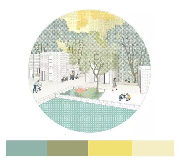 不会做小清新景观图纸,我敢肯定,99%就是配色的问题_19