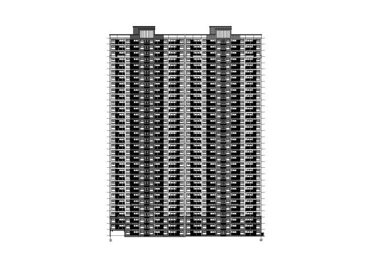 [西安]32层剪力墙结构住宅楼建筑施工图
