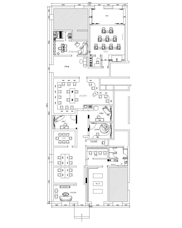 [北京]全套某影视公司办公设计施工图(含效果图)