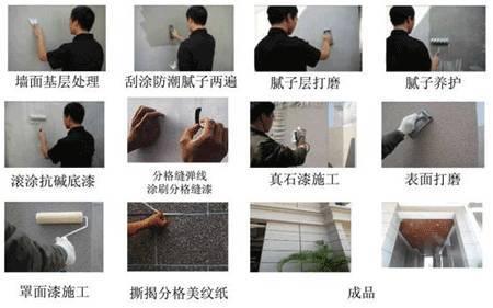 真石漆施工工艺流程图和质量标准