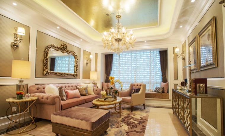 [杭州]欧式售楼处样板房住宅空间设计施工图(含效果图+实景图)_5