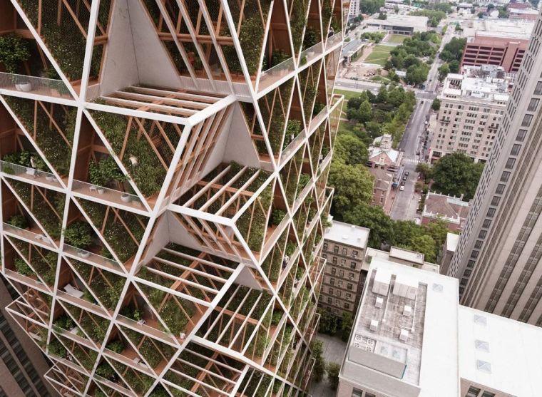 拥有独立生态系统的大楼 - 城市中的垂直农场