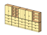 bim软件应用-族文件-冈村文件柜