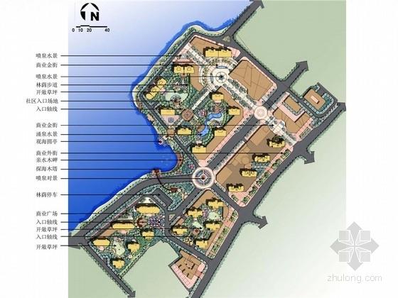 [青岛]滨海欧式新古典主义风格居住区景观概念设计方案