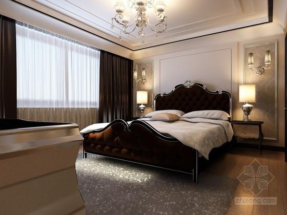 欧式卧室书房3D模型下载