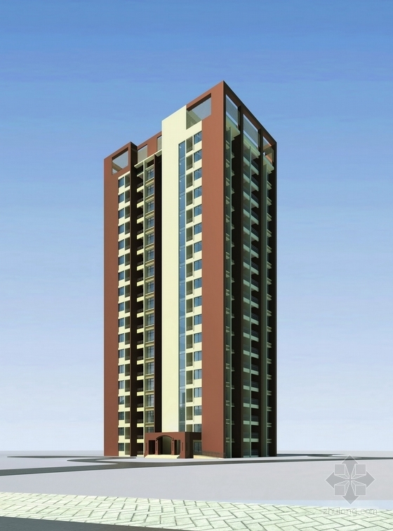 现代风格高层酒店及住宅设计方案效果图