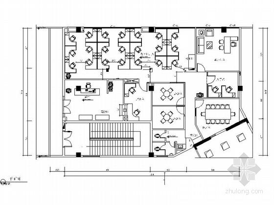 [佛山]花园小区招商办公室室内装修图