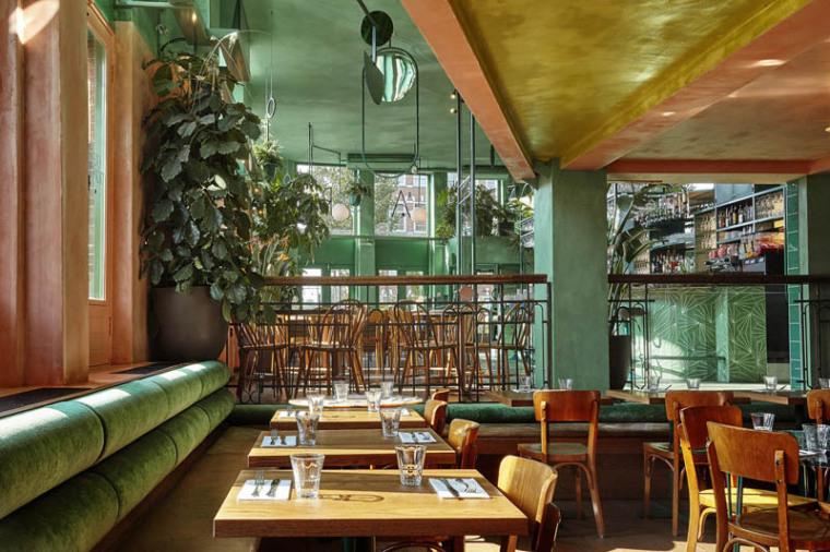 城市中的热带雨林阿姆斯特街角餐厅_12