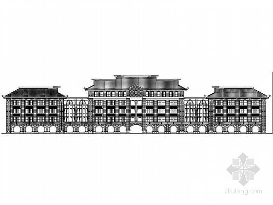 [厦门]知名大学校园主群楼规划设计施工图(嘉庚建筑风格 知名设计院 含效果图)