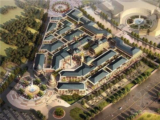 [安徽]欧洲小镇奥特莱斯商业街建筑设计方案文本