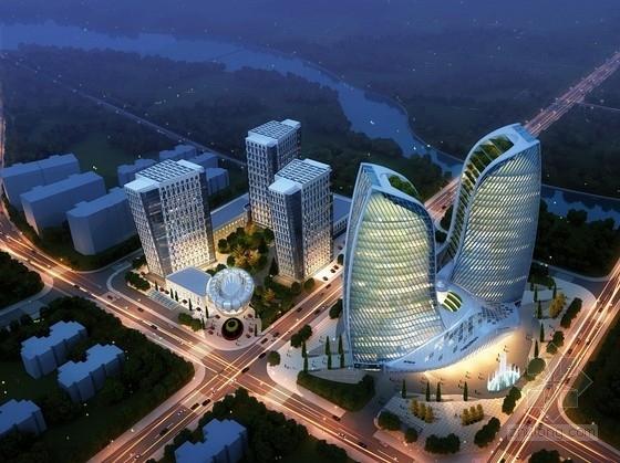 [湖南]超高层现代风格知名企业办公楼设计方案文本(含多媒体)