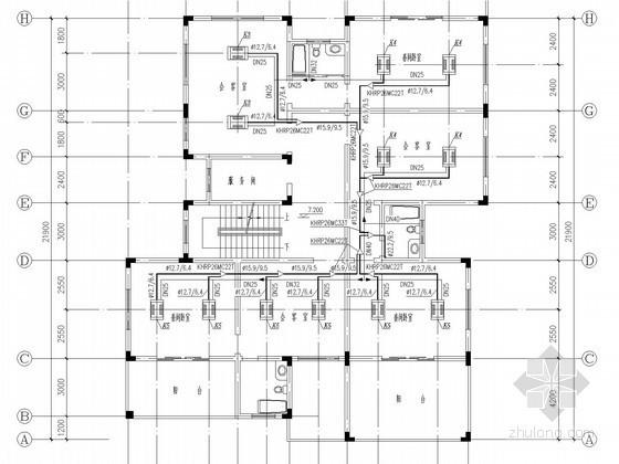 商业办公楼空调通风系统设计施工图(VRV空调系统)