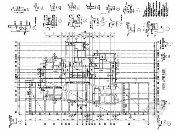 [四川]地上32层部分现浇框支抗震墙结构商住楼结构施工图(地上部分 含转换层)