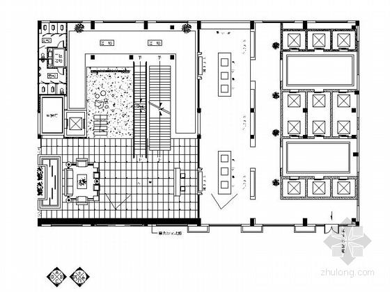 [嘉兴]某企业办公楼大堂及展厅室内装修图(含效果图)