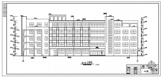 安阳某中学综合教学楼建筑结构图